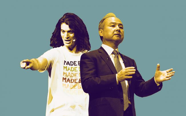 WeWork CEO Adam Neumann and Softbank CEO Masayoshi Son (Credit: Getty Images)