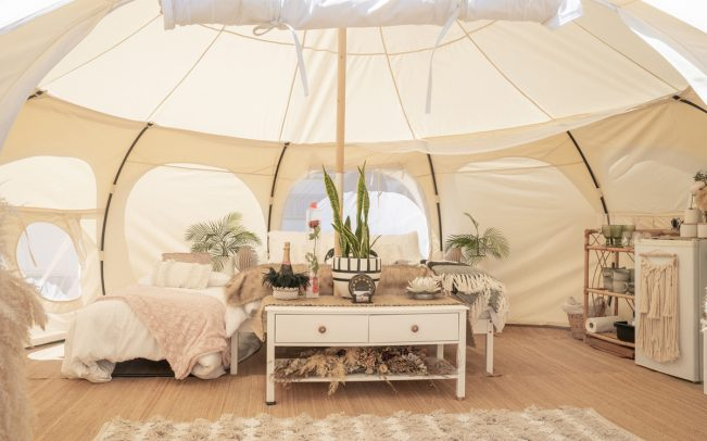 A glamping tent in Mount Maunganui, New Zealand (Credit: iStock)