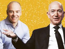 Realogy CEO and president Ryan Schneider and Amazon CEO and president Jeff Bezos (Credit: Getty Images)