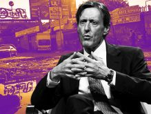 Bridge Investment Group Chairman Robert Morse and the Willet's Point neighborhood (Credit: Getty Images)