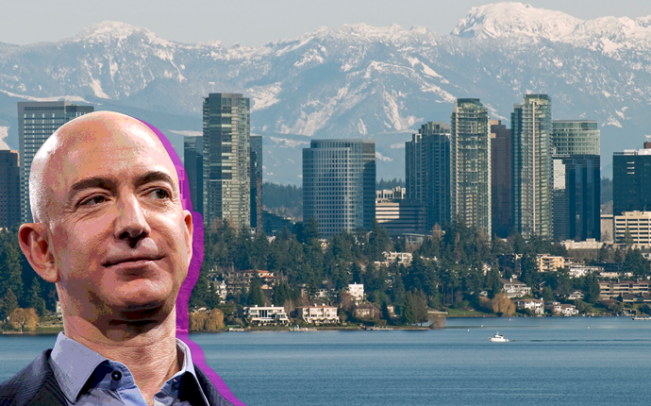 Amazon's Jeff Bezos is planning a 43-story office tower in downtown Bellevue, Washington