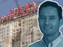 New Yorker Hotel manager Ann Peterson, Mickey Barreto and the New Yorker Hotel at 481 Eight Avenue (Credit: iStock)