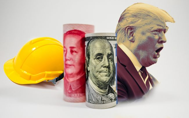 The trade war has created an uncertain environment for construction. (Credit: iStock and Getty Images)