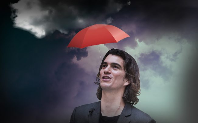 WeWork CEO Adam Neumann (Credit: iStock and Getty Images)