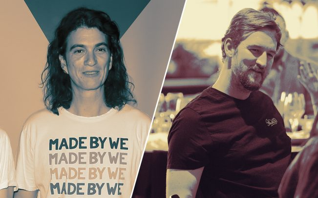 The We Company CEO Adam Neumann and CCO Miguel McKelvey (Credit: Getty Images)