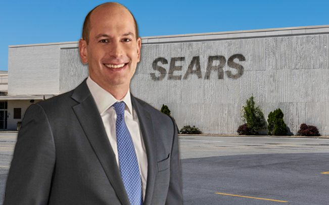 Seritage CEO Benjamin Schall and a shuttered Sears location (Credit: iStock)