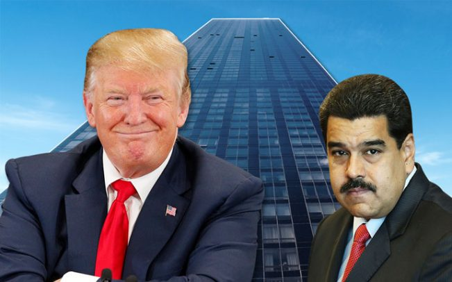 Donald Trump, Nicolás Maduro, and Trump World Tower (Credit: Getty Images and iStock)