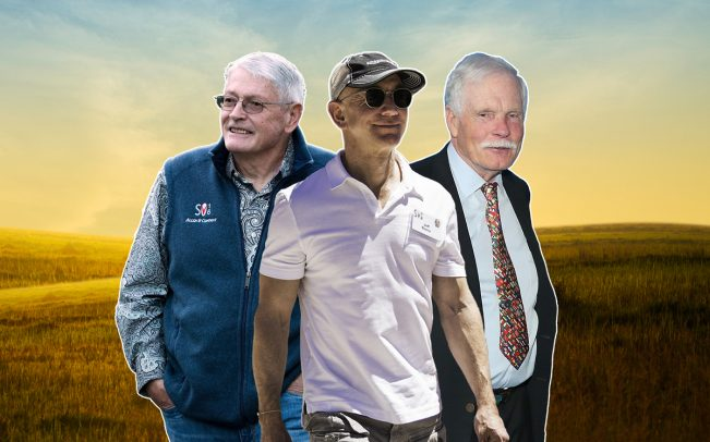From left: John Malone, Jeff Bezos and Ted Turner (Credit: Getty Images and iStock)