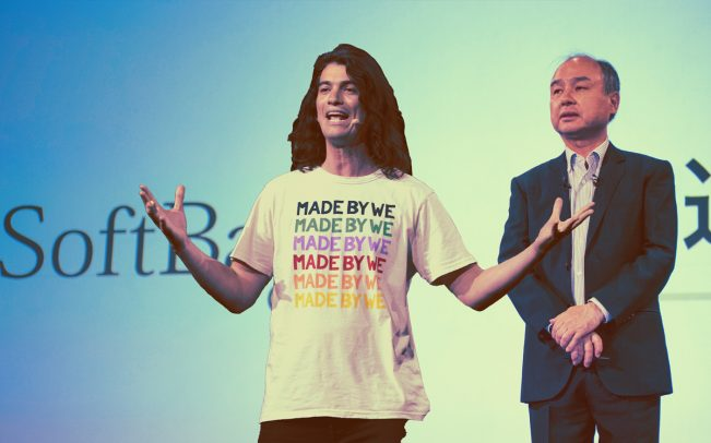 The We Company CEO Adam Neumann and Softbank CEO Masayoshi Son (Credit: Getty Images)