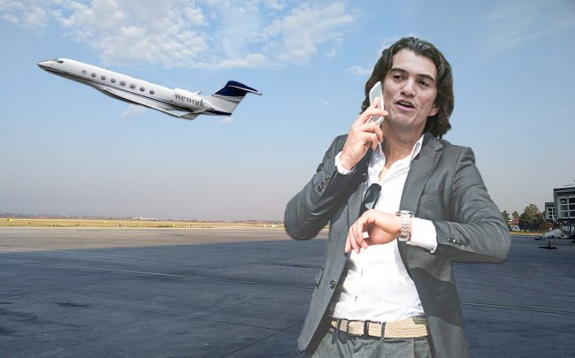 The private plane used by Adam Neumann is on sale (Credit: Getty Images, iStock, Wikipedia)