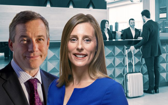 CoStar CEO Andrew Florance and STR president and CEO Amanda Hite (Credit: Getty Images, STR, and iStock)