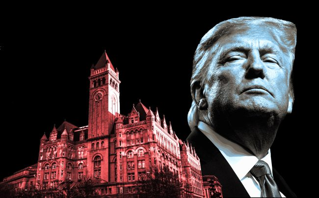 Trump International Hotel in Washington D.C. and President Donald Trump (Credit: Getty Images, iStock)