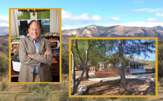 Ron Popeil and his Santa Barbara property (Ron Popeil, Zillow)