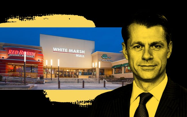 Brookfield's  Brian Kingston and White Marsh Mall (Photos via Brookfield)
