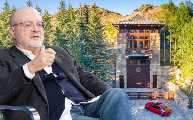 Former J. Crew CEO Mickey Drexler and 760 N Walnut Ave, Ketchum (Getty; Realtor)