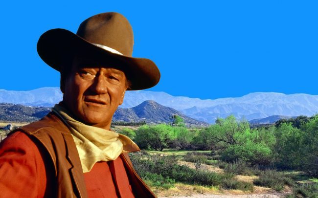 John Wayne and the Riverside County ranch (Getty; Land and Farm)