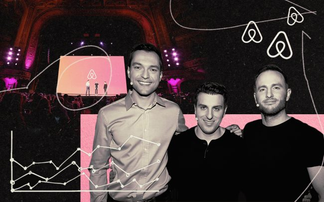 From left: Airbnb founders Nathan Blecharczyk, Brian Chesky and Joe Gebbia (Airbnb, iStock)
