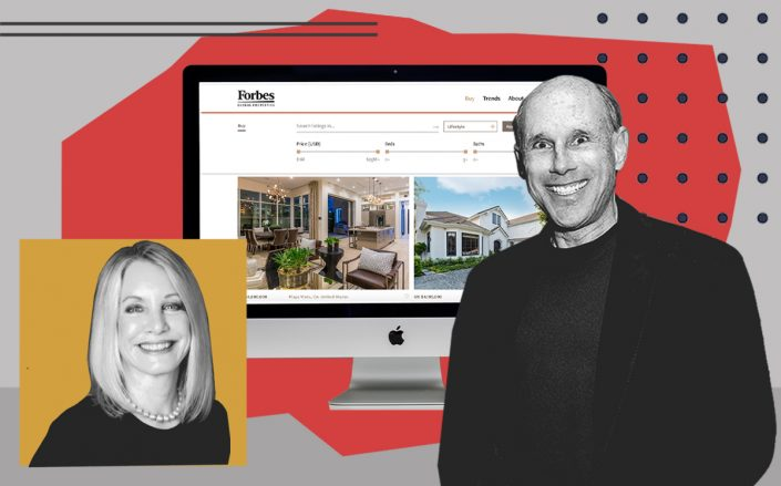 Bonnie Stone Sellers and Jeff Hyland with the platform (Linkedin, Getty, Forbes)