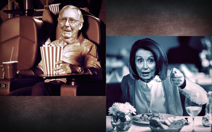Photo illustration ofSenate Majority Leader Mitch McConnell andSpeaker of the House Nancy Pelosi (Getty, iStock)