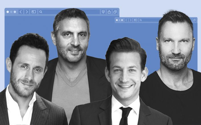 From left: PLS founders David Parnes, Mauricio Umansky, James Harris and Chris Dyson and (The Agency RE)