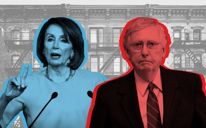 Speaker of the House Nancy Pelosi and Senate Majority Leader Mitch McConnell (Getty; iStock)