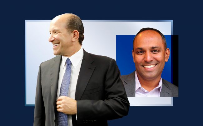 Cantor Fitzgerald CEO Howard Lutnick and View CEO Rao Mulpuri (Getty; iStock; View)