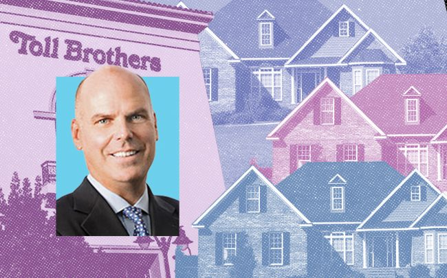 Toll Brothers CEO Douglas Yearley (iStock; Toll Brothers)