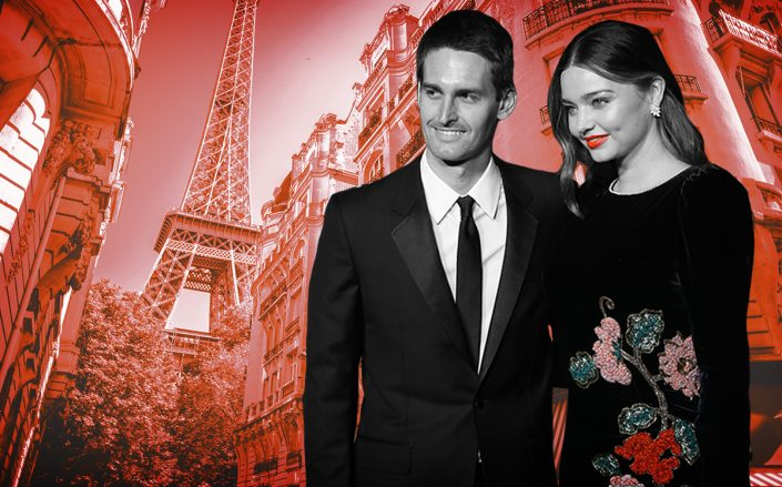 Evan Spiegel and Miranda Kerr (Getty, iStock)