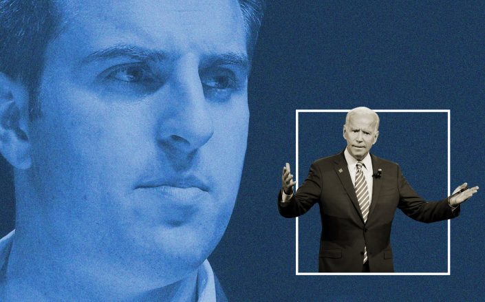 Airbnb Brain Chesky and President-elect Joe Biden (Getty)
