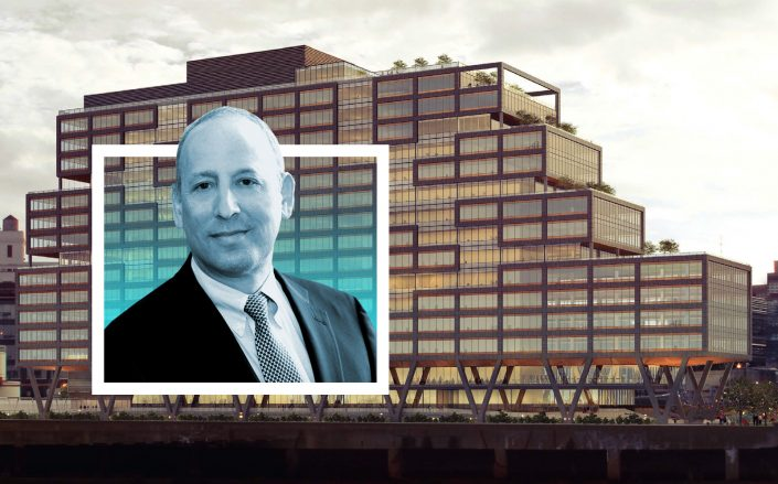Boston Properties president Doug Linde with Dock 72. (Beth Israel Lahey, Dock 72)