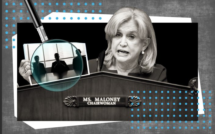 Photo illustration of New York Rep. Carolyn Maloney (Getty; iStock)