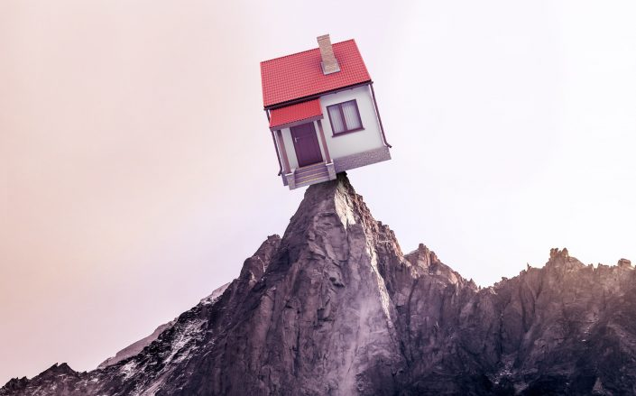 Home prices surpass 2006 peak levels. (Getty, Unsplash, Photo Illustration by Alison Bushor for The Real Deal)