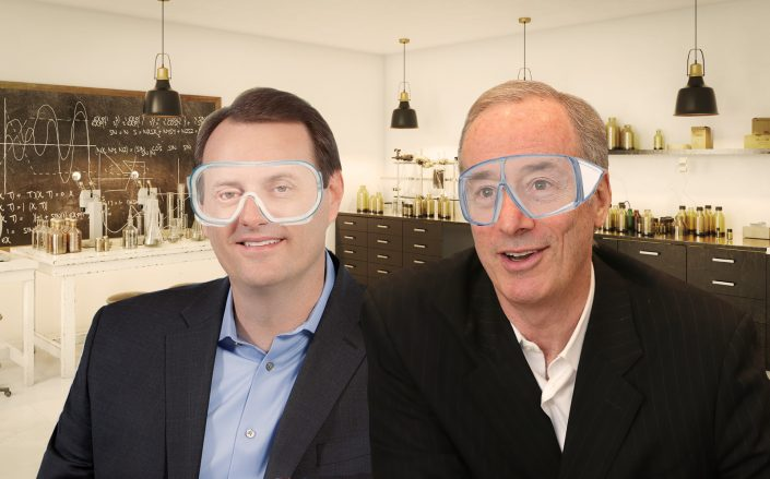 Photo Illustration of BioMed Realty CEO Tim Schoen and Alexandria Real Estate Equities CEO Joel S Marcus. (Getty, BioMed)