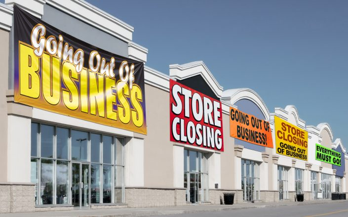 8,741 retail stores closed in 2020. (Photo Illustration by The Real Deal, Photos via Getty)