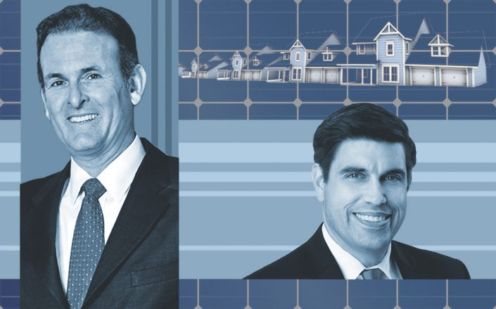 "Lennar's Stuart Miller and Sunnova's William J. ""John"" Berger (iStock)"