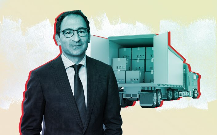 Blackstone's Jonathan Gray (Photos via Twitter;iStock/Photo Illustration by Kevin Rebong for The Real Deal)