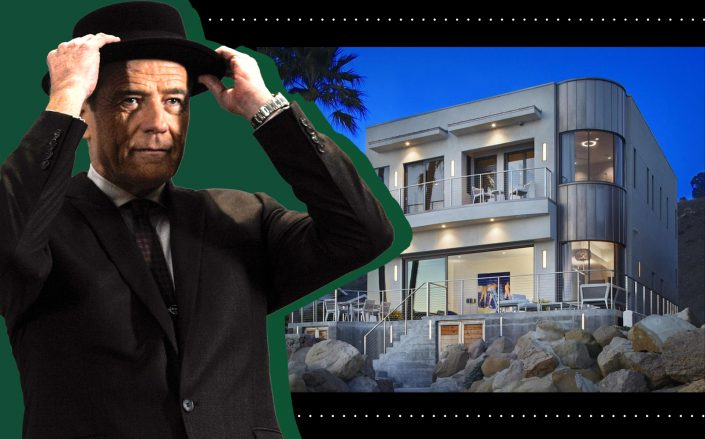 Bryan Cranston and his California beach house (Getty, Realtor)