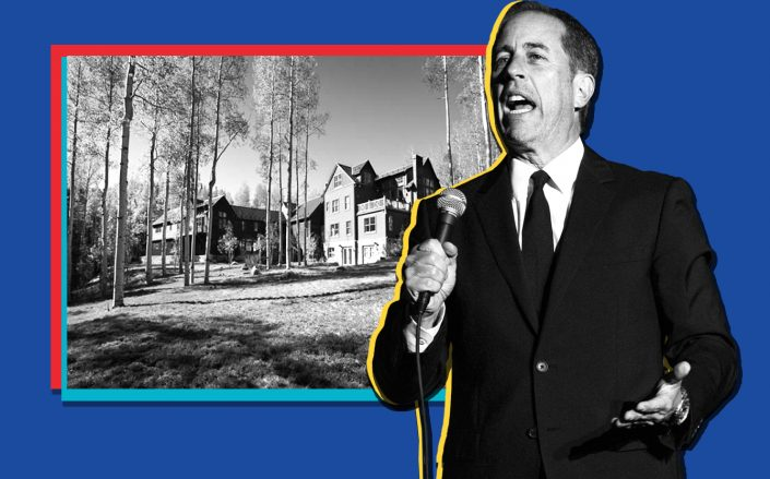 Jerry Seinfeld and his Telluride estate (Getty, Realtor)