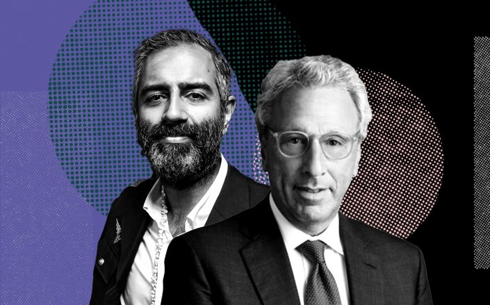 Knotel CEO Amol Sarva and Newmark CEO Barry Gosin (Sarva via Sasha Maslov; Gosin via Newmark)