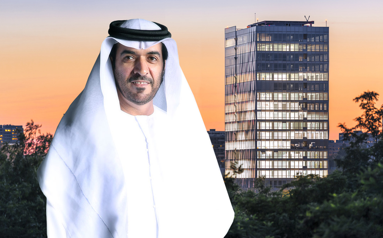Gulf Islamic Investments Chairman H.E. Mohammed Rashed Alnasri with Paris' Altais Towers. (GII, Reichen Et Robert & Associés)