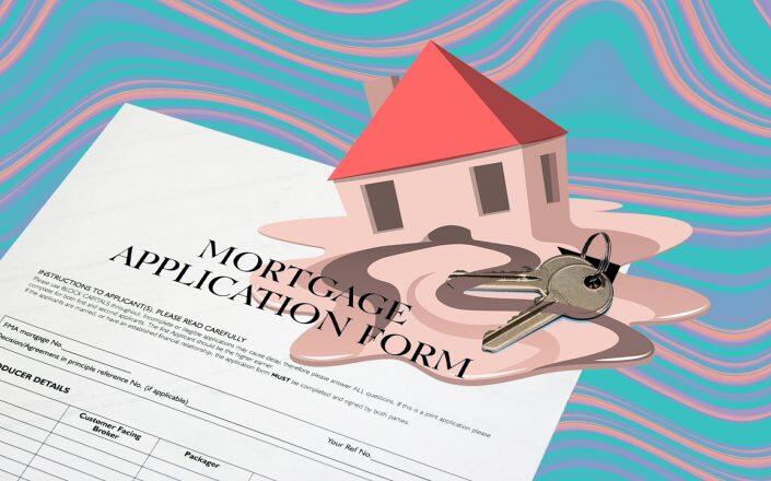 An index tracking applications for mortgages to purchase homes decreased 5 percent. (iStock)