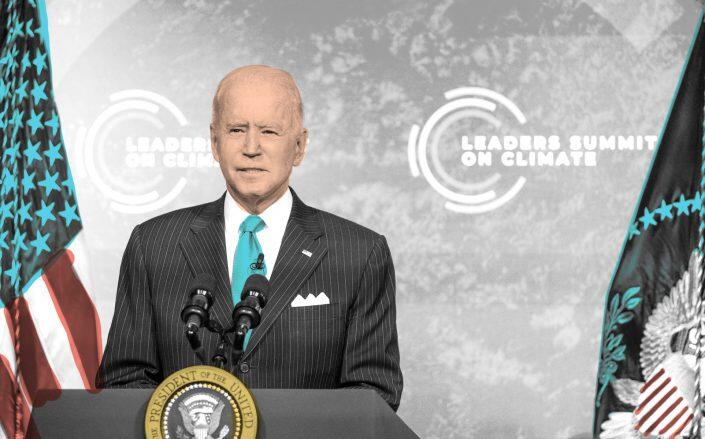 President Biden at the Leaders Summit On Climate. (Getty)