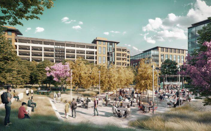 Rendering of the Southline Project (DES Architects + Engineers)