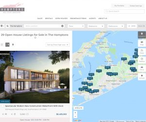 A screenshot of the Hamptons Real Estate Association's listing website (Click to enlarge)