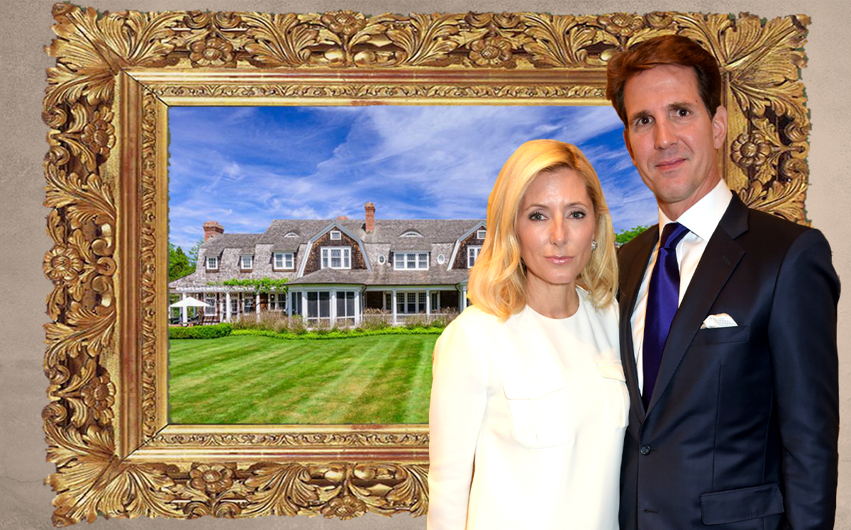 Marie-Chantal Miller, the Crown Princess of Greece, and her husband Pavlos, the Crown Prince with 385 Great Plains Rd, Southampton, NY  (Credit: Getty Images)