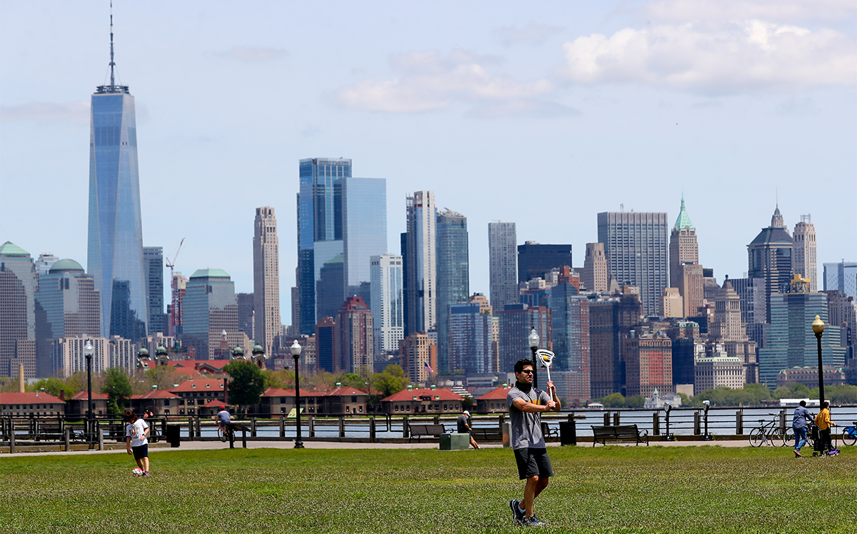 Liberty State Park in Jersey City in May 2020 (Rich Graessle/Icon Sportswire)