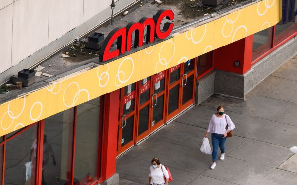 A closed AMC theater (Photo by Noam Galai/Getty Images)
