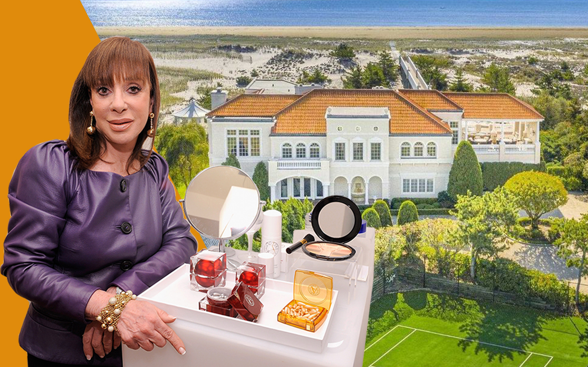 Adrien Arpel and her Southampton estate (Getty, Realtor)