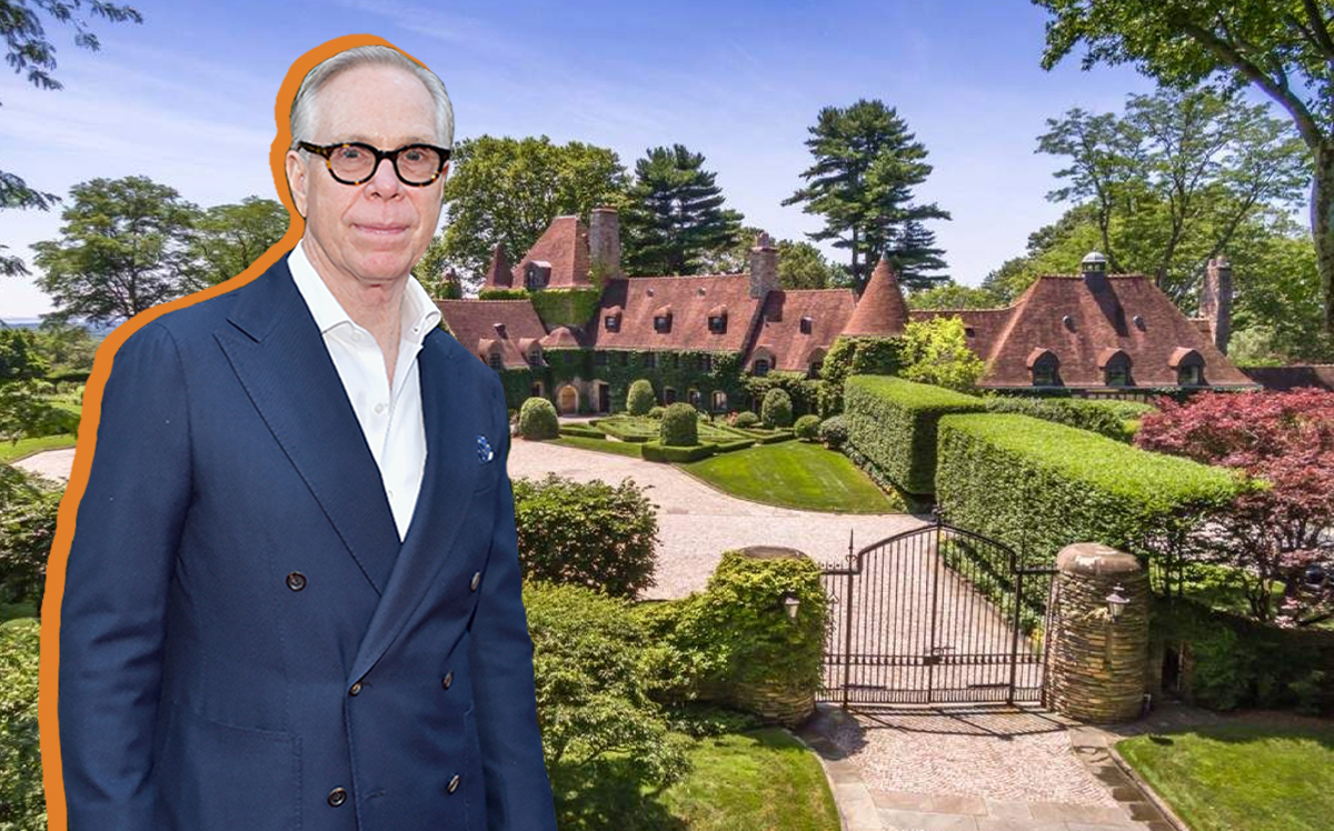 Tommy Hilfiger and his Greenwich estate (Getty, Sotheby's)