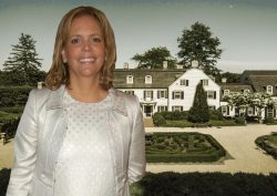 Susie Hilfiger and her $40 million Greenwich house. (Getty, Sotheby's Realty)